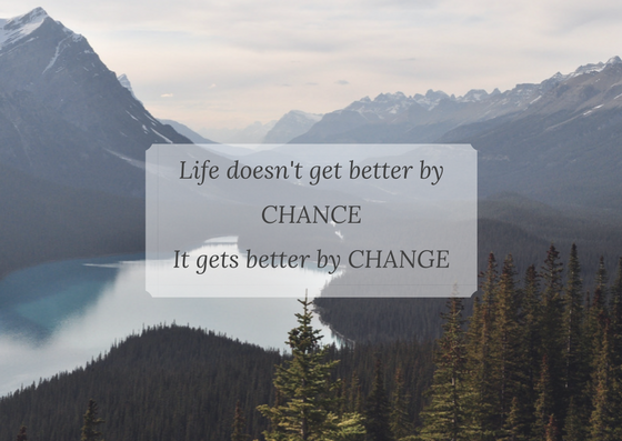 Copy of Your life doesn't get better by chance. It does get better by CHANGE